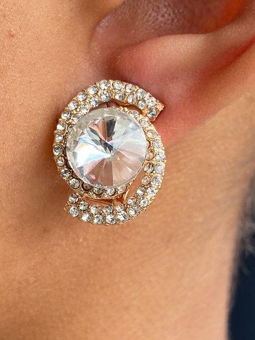 Sparkle & Swirl Clip On Earrings
