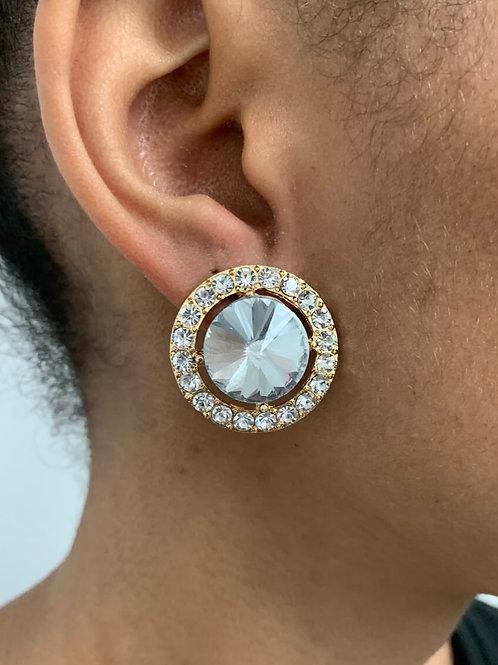 Mirror Clip On Earrings