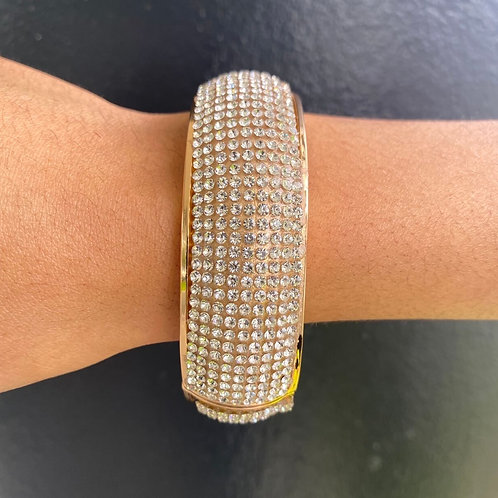 Blinged Bangle Gold