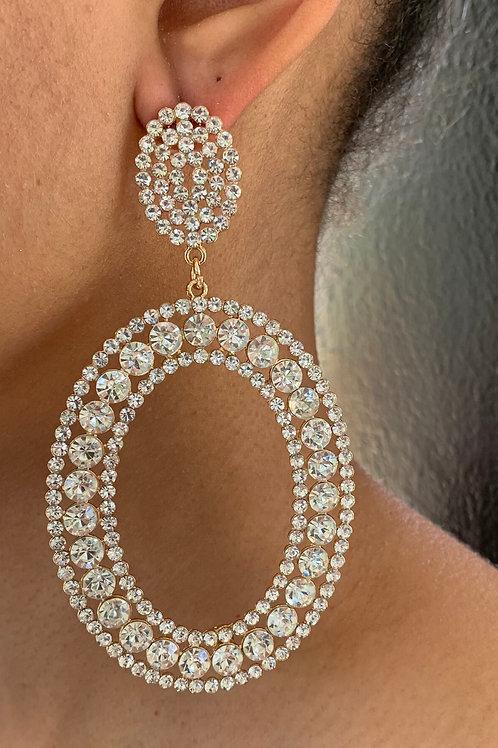 Vibrant Oval Earrings Gold