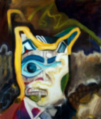totem ple pining oil alaska mask abstract
