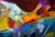 wwii painting oilcontemporary art wwii solders rigfles mario quetion block binary code elephant surreal digital 8-bit
