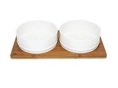Be One Breed Bamboo and Ceramic Bowls Lrg