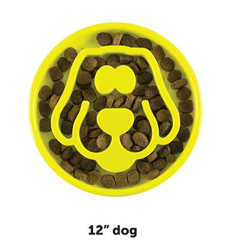Be One Breed Slow Feeder Dog Yellow 12x12