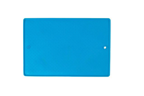 "Dexas Pet Bowl Grippmat Pro Blue 23.5""X17"""
