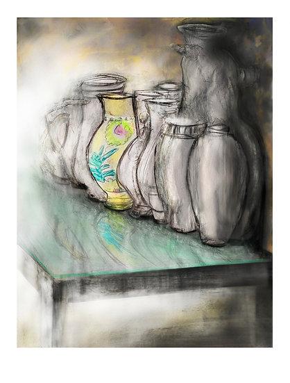 One Coloured Vase