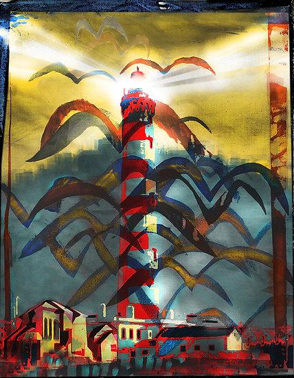 Lighthouse Screen Print