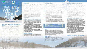 Frontenac Winter Trail Guide