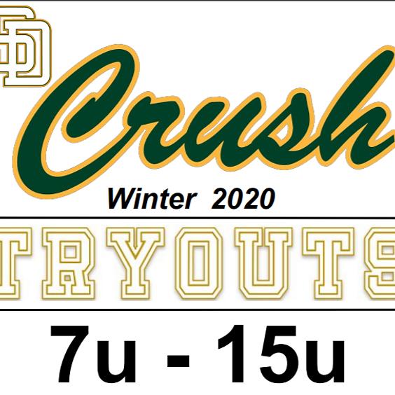 San Diego Crush Baseball Winter 2020 Tryouts