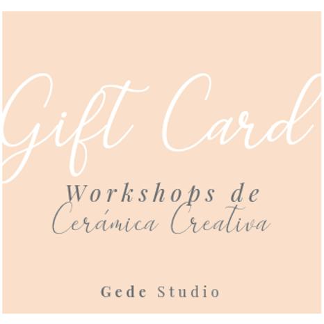 Gift Card - Workshop de Cerámica Creativ