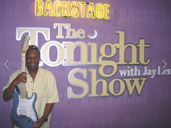 Ted backstage at The Tonight Show