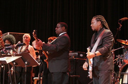 Ted with the Aretha Franklin Band