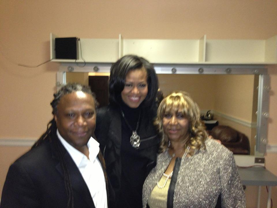 Ted, Michelle Obama, Aretha Franklin