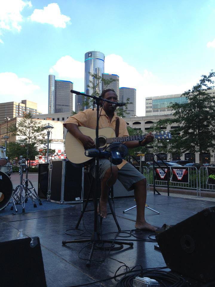 Ted at Campus Martius summer concert