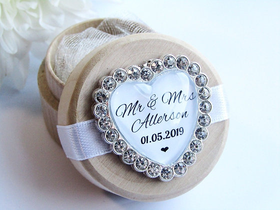 Wedding Ring Box with Personalisation