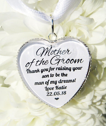 Mother of the Groom 'Thank You' Bouquet Charm