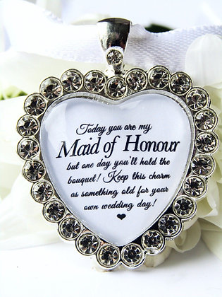 Maid of Honour Charm In Sparkling Diamantés