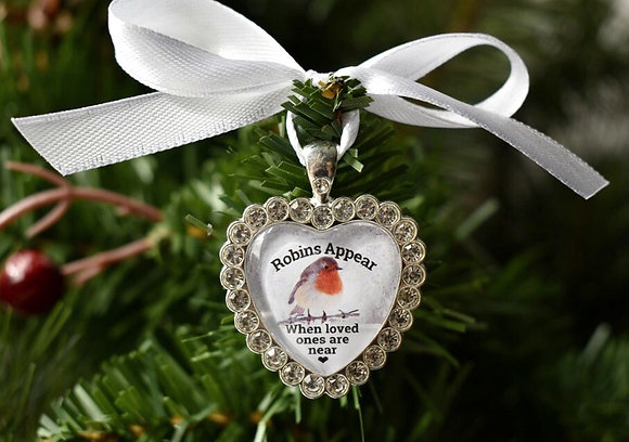 Robins appear when loved Ones Are Near Christmas Tree Decoration