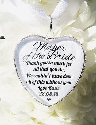 Mother of the Bride 'Without you' Bouquet Charm