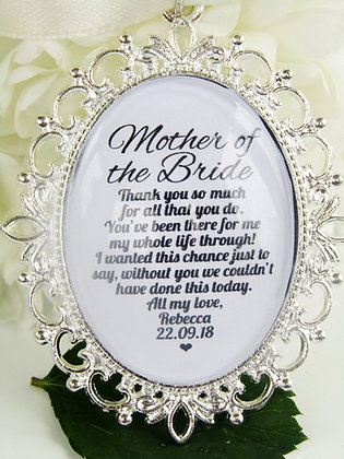 Mother of the Bride 'Thank You' Oval Charm