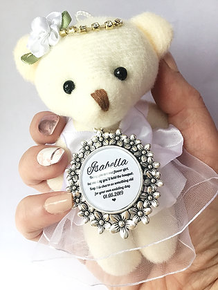 Floral Charm Flower Girl Bear