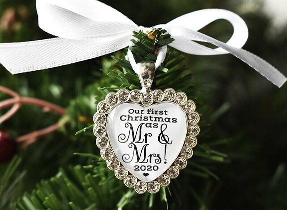 First Christmas as Mr & Mrs Tree Decoration