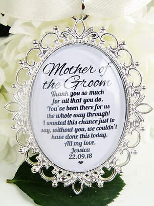 Mother of the Groom 'Thank You' Oval Charm