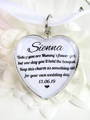 Mummy's Flower Girl 'Something Old' Bouquet Charm