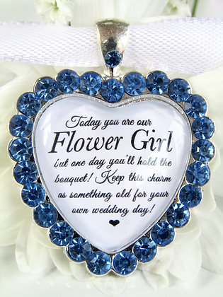 Flower Girl Bouquet Charm Something Old Gift
