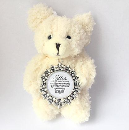 Page boy bear with keepsake charm