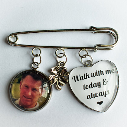 Groom Memorial Photo Buttonhole