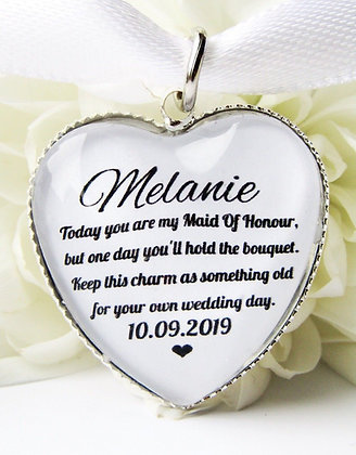 Maid of Honour 'One Day' Bouquet Charm