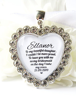Bridesmaid Daughter Bouquet Charm Diamanté