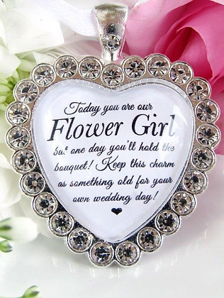 Flower Girl Bouquet Charm In Sparkling Diamantés