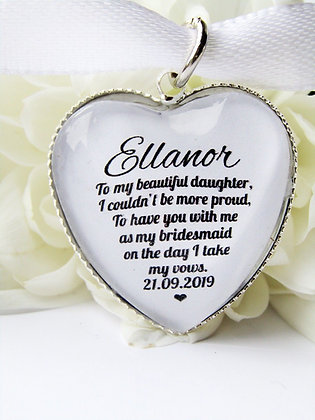 Bridesmaid 'Beautiful Daughter' Bouquet Charm