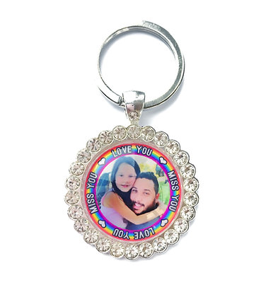 Rainbow Photo Keyring