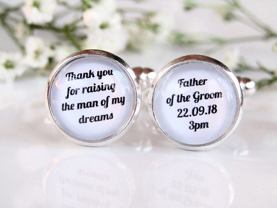 Father Of The Groom Thank You For Raising The Man Of My Dreams Cufflinks