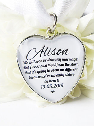 Sister 'By Marriage' Bouquet Charm