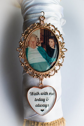 Rose Gold Photo Charm With Quote