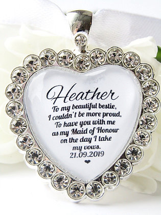 Maid Of Honour Bouquet Charm Diamanté