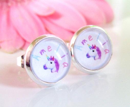 Unicorn Name Earings