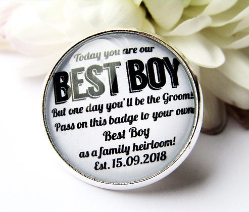 Best Boy 'One Day' Lapel Badge