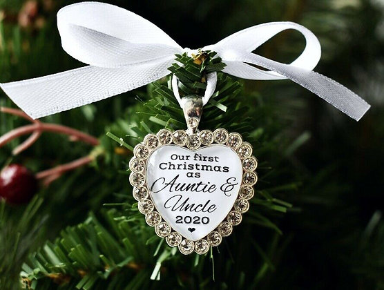 First Christmas As Auntie & Uncle Tree Decoration