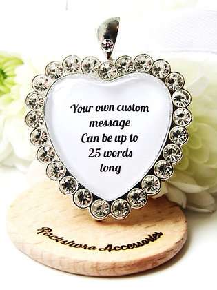 Personalised Wedding Bouquet Custom Quote Charm