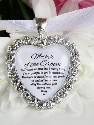 Mother Of The Groom Bouquet Charm Sparkling Diamantés