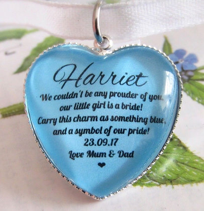 Something Blue 'Pride' Bouquet Charm