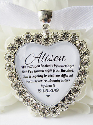 Sister In Law to Be Bouquet Charm Diamanté