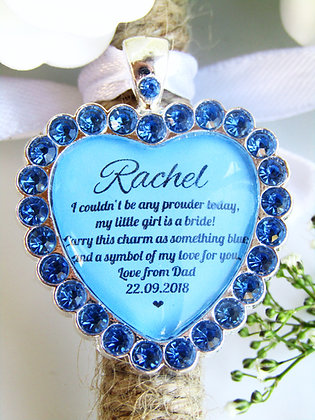 Something Blue From Mum &/or Dad Bouquet Charm