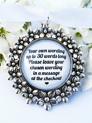 Custom Quote Bouquet Charm Flower Surround