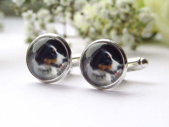 Photo Cufflinks In Silver Or Rose Gold